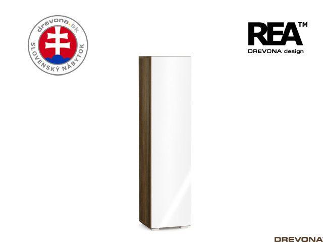 Skrinka orech rock/biely lacobel REBECCA 4