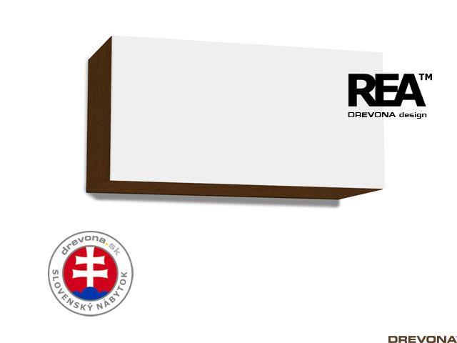 Skrinka wenge/biela REA REBECCA 7