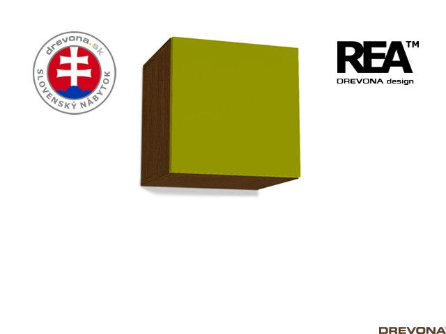 Skrinka wenge/zelená REBECCA 6