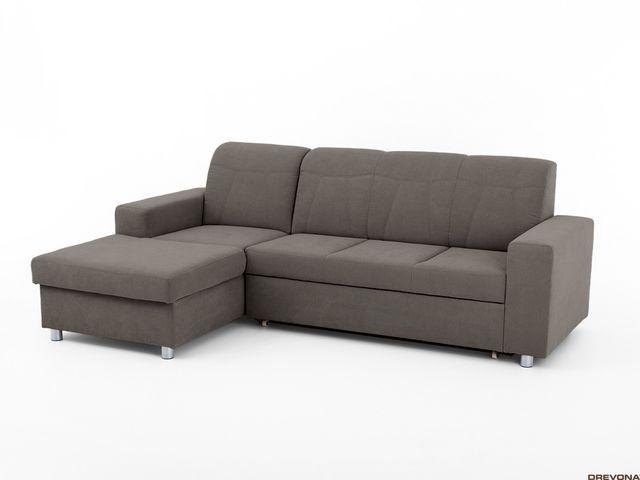 Slovenská sedačka hnedo-šedá ľavá TINY