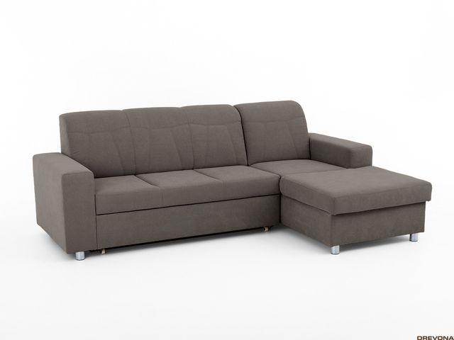 Slovenská sedačka hnedo-šedá prav. TINY