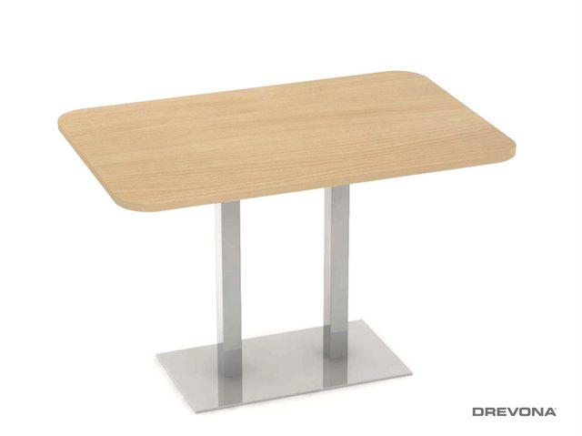 Stôl 120 x 80 buk + nerez podnož FLAT 6