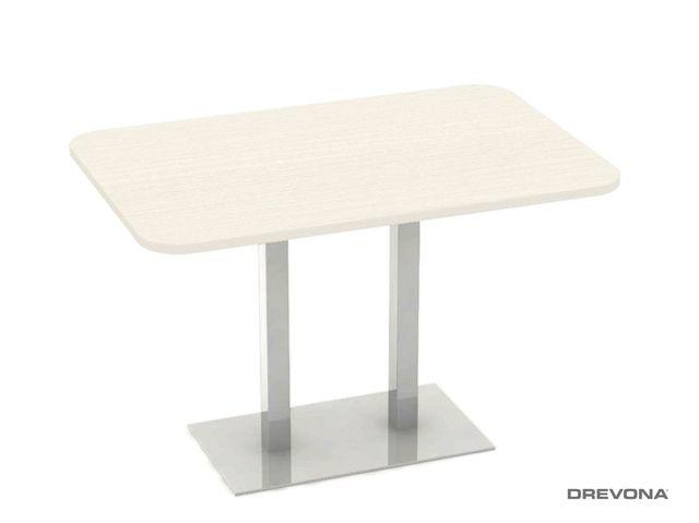 Stôl 120 x 80 navarra + nerez podnož FLAT 6