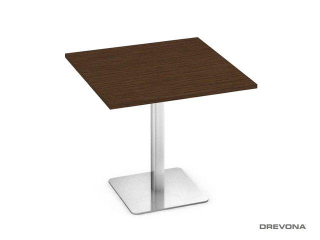 Stôl 80x80 wenge nerez podnož FLAT 1