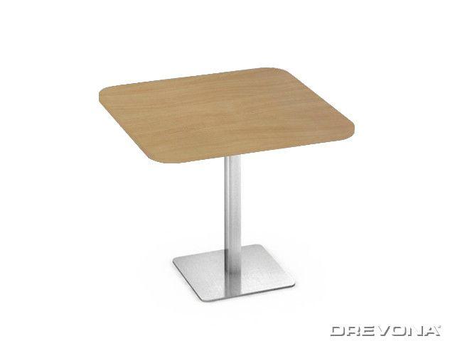 Kuchynský stôl buk 80x80 nerez podnož FLAT 5