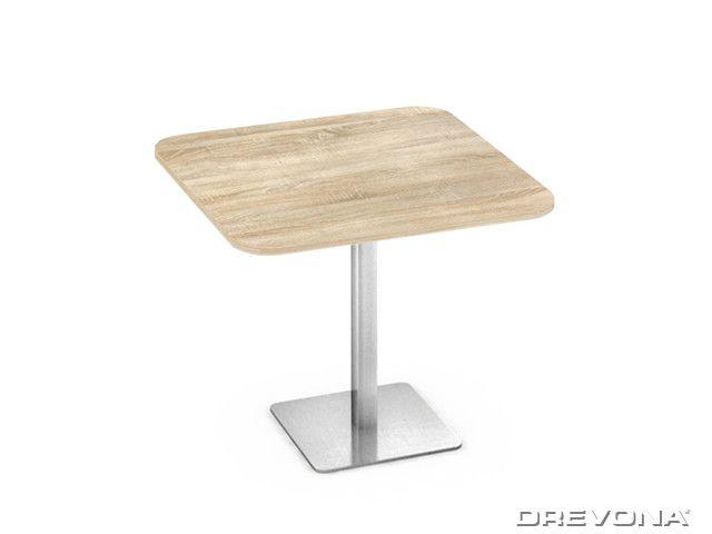 Kuchynský stôl dub bardolino 80x80 nerez podnož FLAT 5