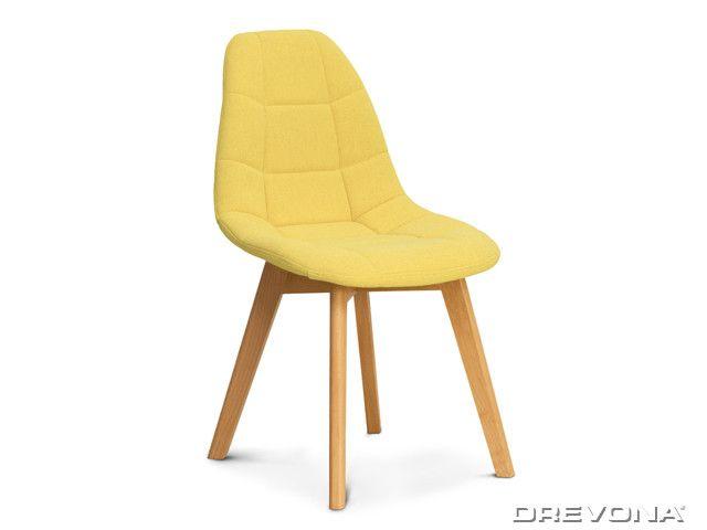 Stolička do kuchyne žltá WESTA