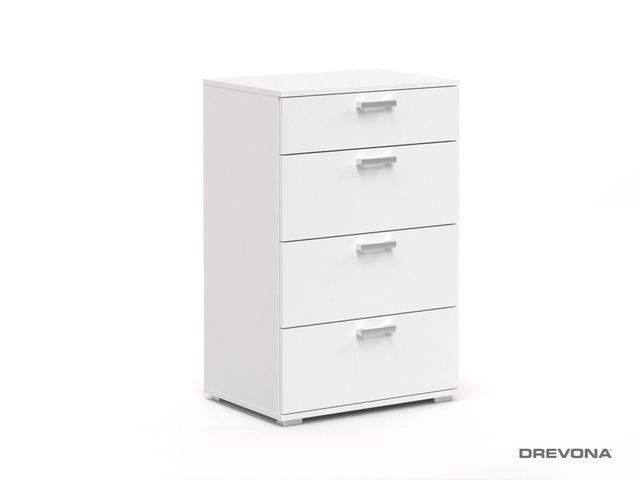 Šuflíkový príborník biela REA SISA 10