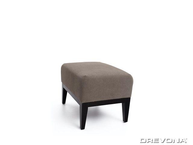 Taburet hnedo šedý + nohy wenge AVA HOLLY TAB Soro 91