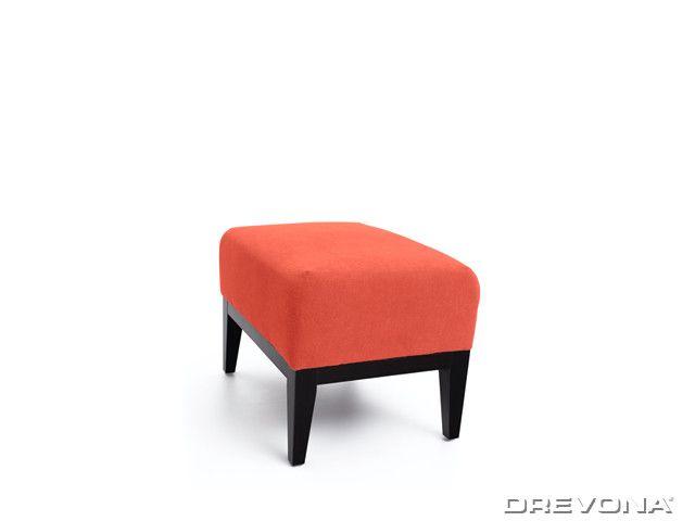 Taburet oranžový + nohy wenge AVA HOLLY TAB Soro 51