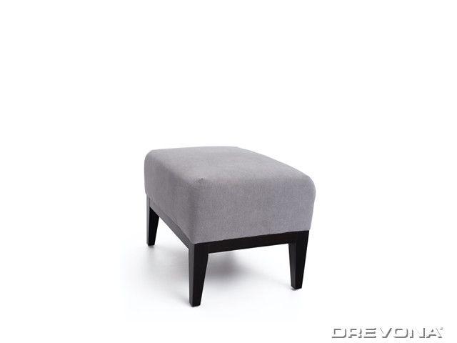 Taburet šedý + nohy wenge AVA HOLLY TAB Soro 90