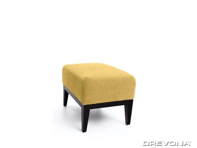 Taburet žlto zelený + nohy wenge AVA HOLLY TAB Soro 40