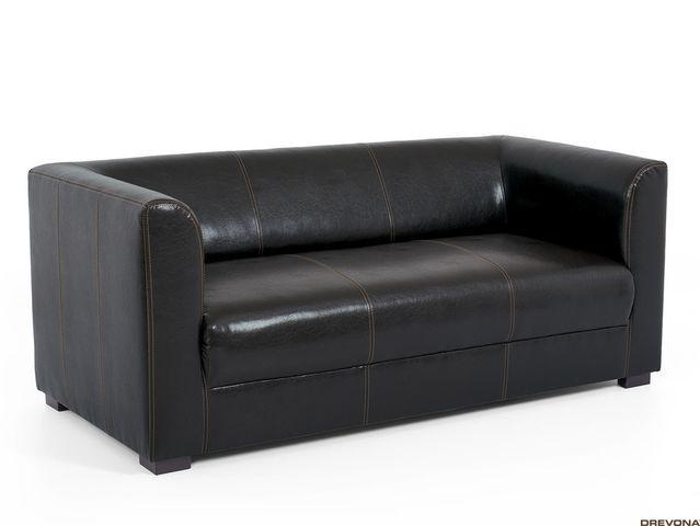 Trojsedačka čierna textilná koža CAFF