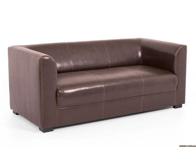 Trojsedačka hnedá textilná koža CAFF