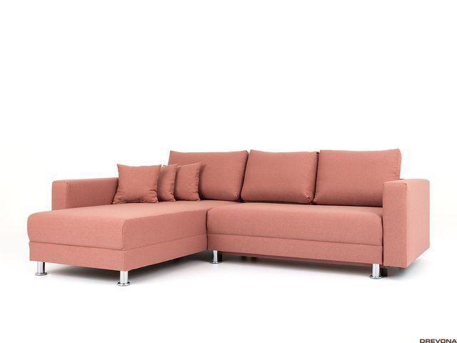 Univerzálna rohová sedačka korálová ANKA Tatum 276