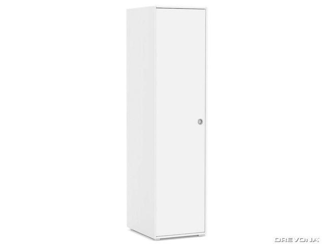 Vešiaková skriňa 1-dverová biela REA LARY S1/200