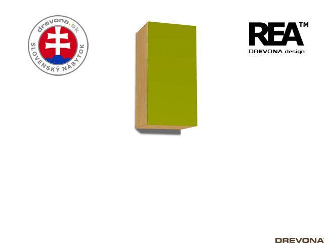 Zvislá skrinka buk/zelená REA REBECCA 9