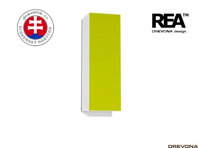 Zvislá skrinka biela/zelená REA REBECCA 10