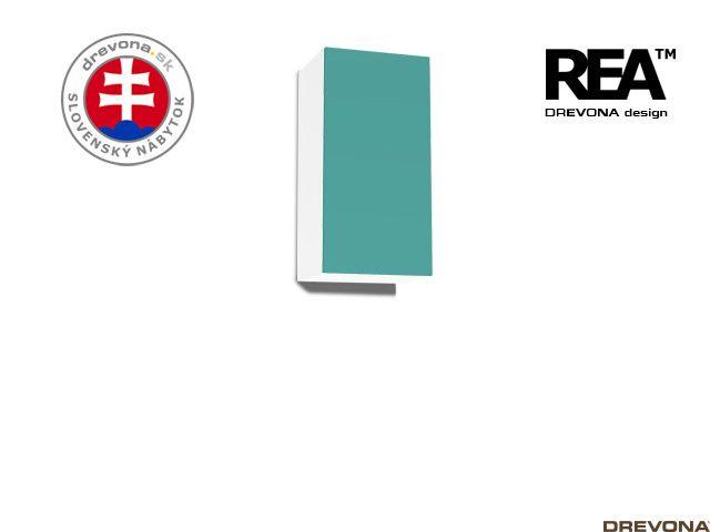 Zvislá skrinka biela/tyrkys REBECCA 9