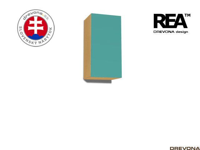 Zvislá skrinka buk/tyrkys REA REBECCA 9