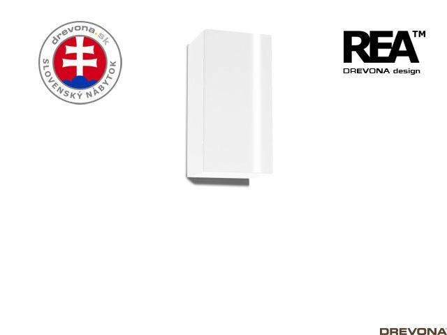 Zvislá skrinka biela/biely lacobel REBECCA 9