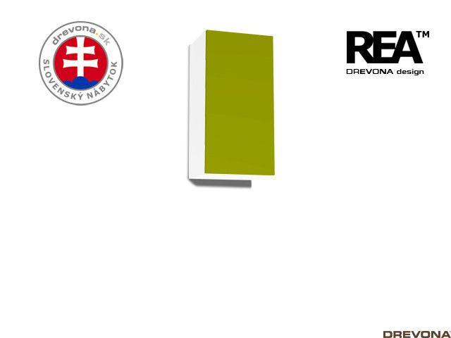 Zvislá skrinka biela/zelená REBECCA 9