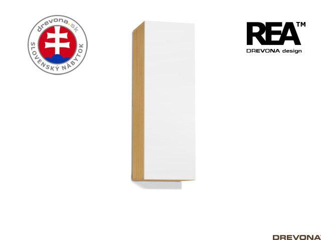Zvislá skrinka buk/biela REBECCA 10