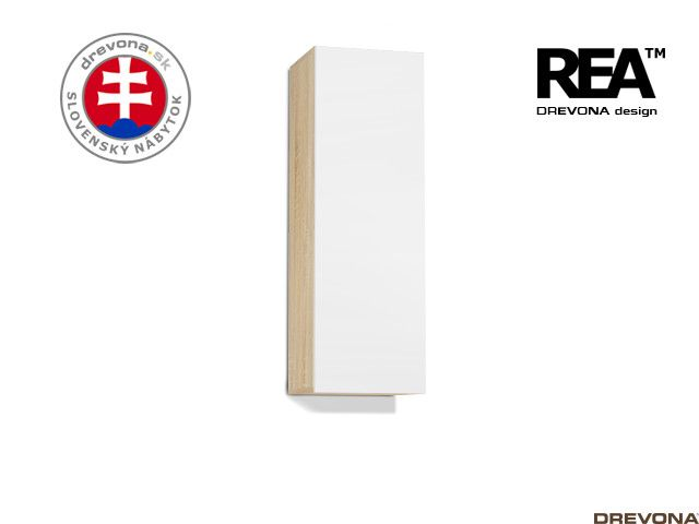 Zvislá skrinka dub bardolino/biela REBECCA 10