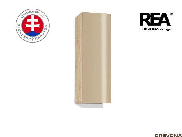 Zvislá skrinka dub bard/cappuccino lacobel REBECCA 10