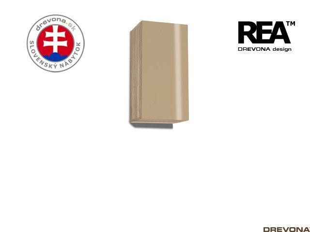 Zvislá skrinka dub c/cappuccino lacobel REBECCA 9