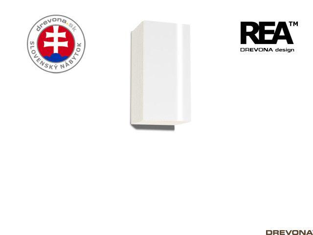 Zvislá skrinka navarra/biely lacobel REBECCA 9
