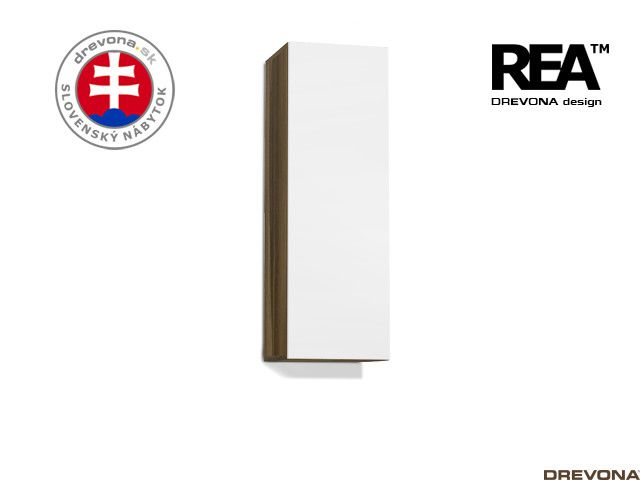 Zvislá skrinka orech rockpile/biela REBECCA 10