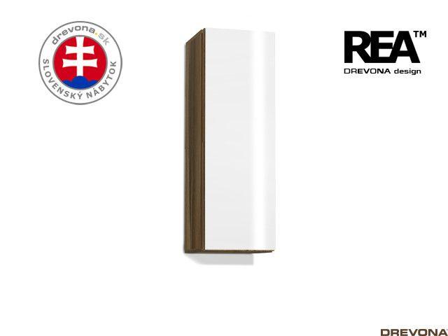 Zvislá skrinka orech rock/biely lacobel REBECCA 10