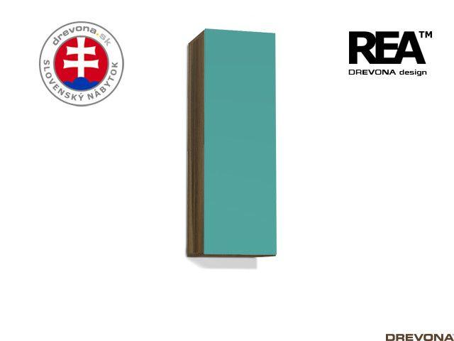 Zvislá skrinka orech rockpile/tyrkys REBECCA 10