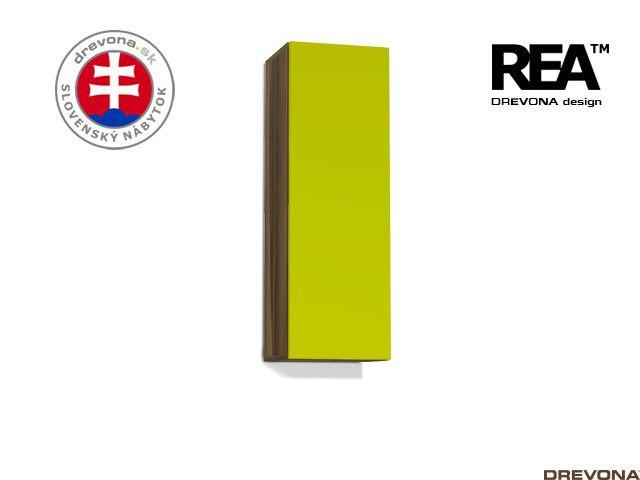 Zvislá skrinka orech rockpile/zelená REBECCA 10