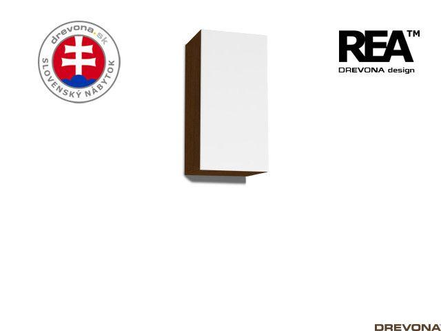 Zvislá skrinka wenge/biela REA REBECCA 9