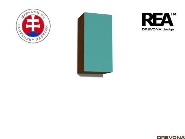 Zvislá skrinka wenge/tyrkys REA REBECCA 9