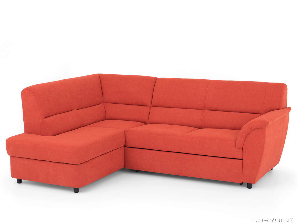 Rohová sedacia súprava oranžová ľavá AVA SENZI Soro 51