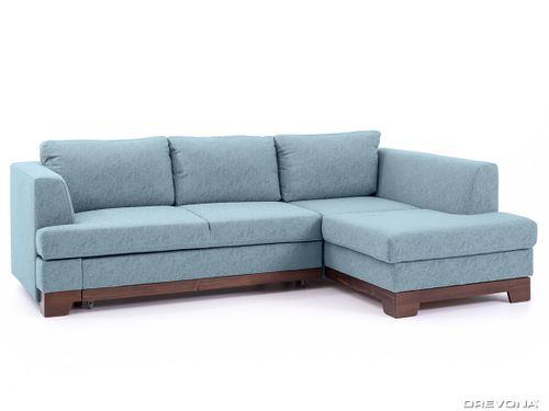Rohová sedačka pravá modrá GLADYS Gusto 72