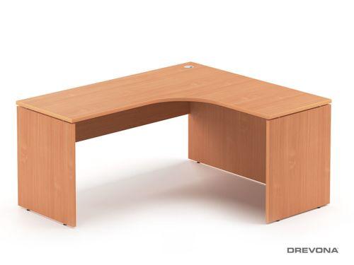 Rohový stôl pravý buk RP-SRD-1600