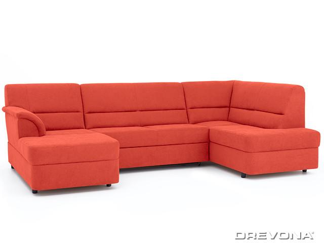 Sedacia súprava v tvare U oranžová pravá AVA SENZI Soro 51
