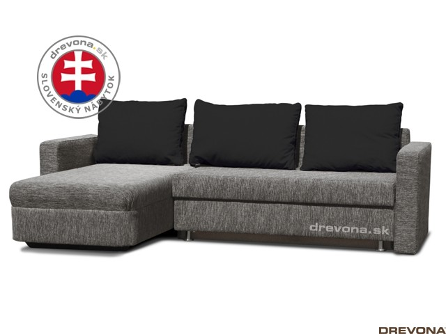 Univerzálna rohová sedačka sivá GALA Milano antracit/Rosin nero